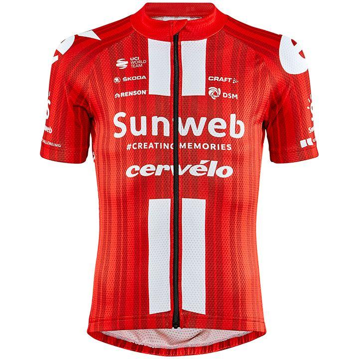 TEAM SUNWEB 2020 kinderfietsshirt kinderfietsshirt, Maat XL