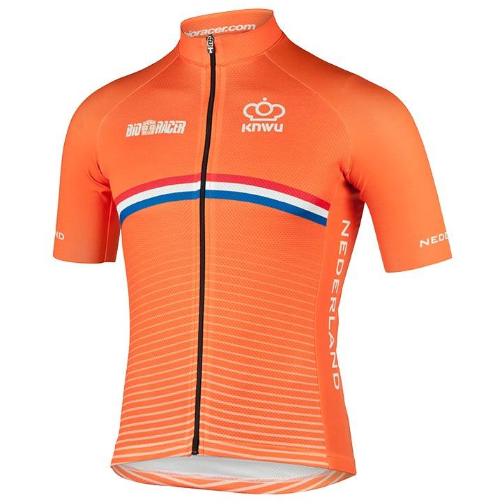 NEDERLANDS NATIONAAL TEAM 2020 fietsshirt met korte mouwen, voor heren, Maat 2XL