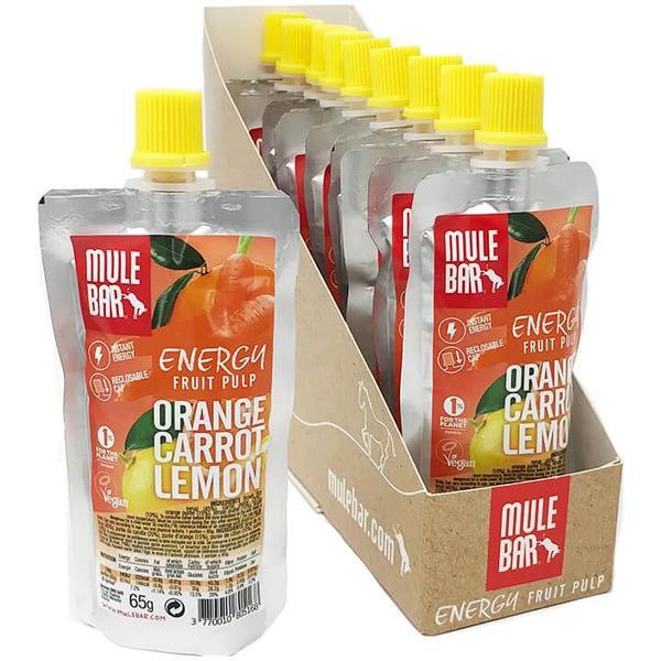 MULEBAR Energy Fruit Pulp Orange Carrot Lemon 10Stck./K.
