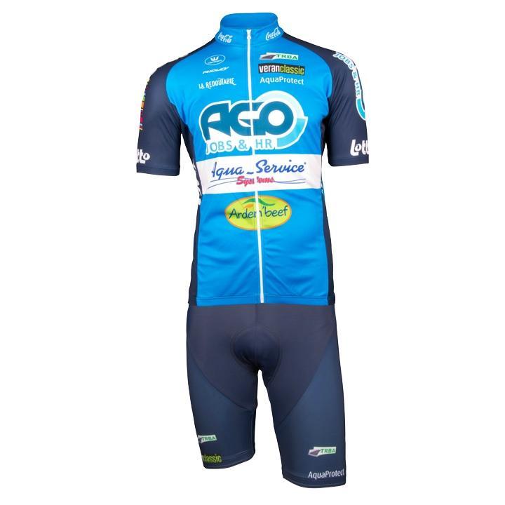AGO - AQUA SERVICE 2018 Set (fietsshirt + fietsbroek), voor heren, Fietskleding
