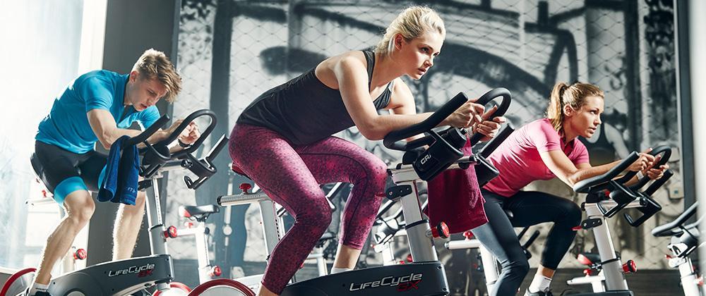 Fitness-Training auf dem Schwinn-Fahrrad