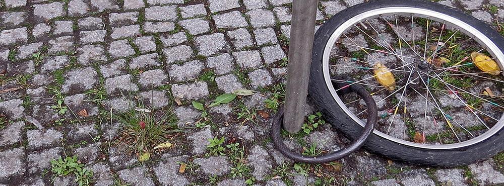 Schlließen Sie Ihr Fahrrad richtig ab